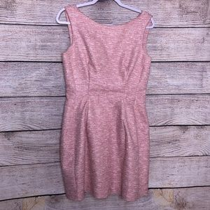 Zara Pink Tweed Dress Size Large